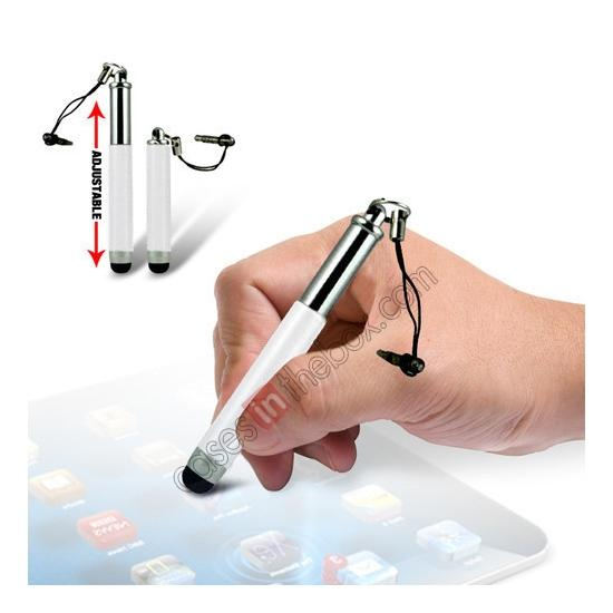 wholesale Capacitive aluminium stylus pen for mobile phones, PDA, Tablet PC, iPad & iPhone - White