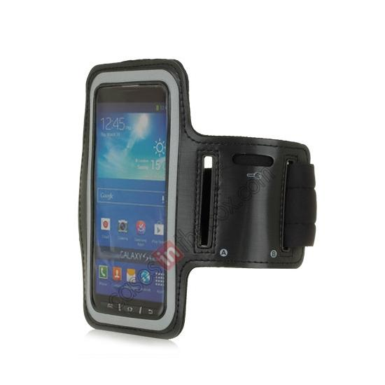 wholesale Neoprene Armband Strap Case for Samsung Galaxy S4 Active i9295 - Black