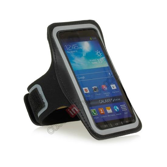 discount Neoprene Armband Strap Case for Samsung Galaxy S4 Active i9295 - Black