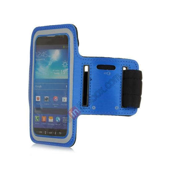 wholesale Neoprene Armband Strap Case for Samsung Galaxy S4 Active i9295 - Blue