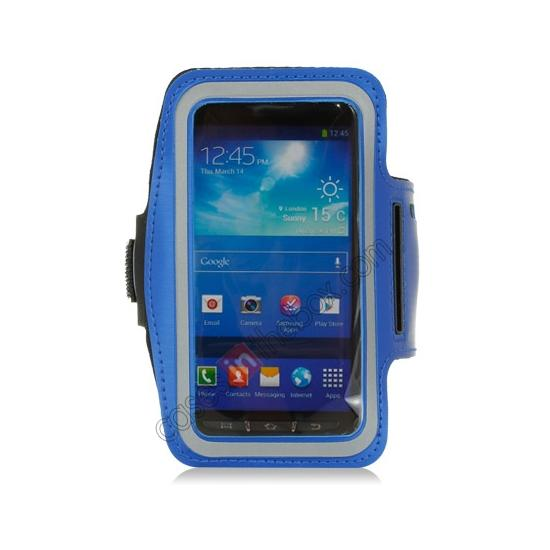 discount Neoprene Armband Strap Case for Samsung Galaxy S4 Active i9295 - Blue