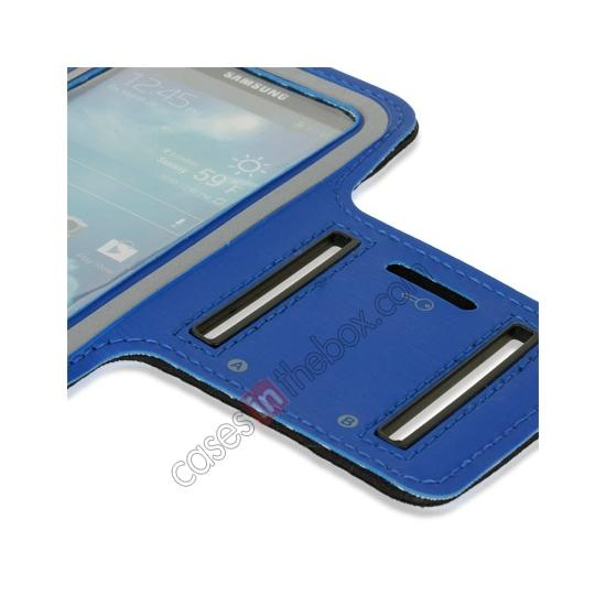 best price Neoprene Armband Strap Case for Samsung Galaxy S4 Active i9295 - Blue