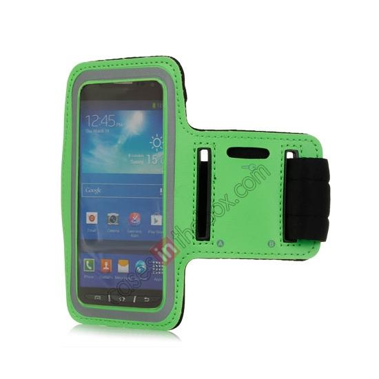 wholesale Neoprene Armband Strap Case for Samsung Galaxy S4 Active i9295 - Green