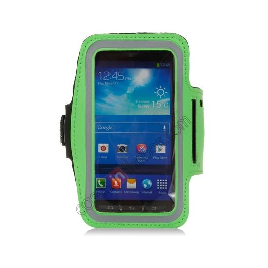 discount Neoprene Armband Strap Case for Samsung Galaxy S4 Active i9295 - Green