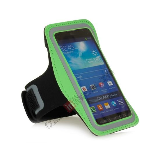 cheap Neoprene Armband Strap Case for Samsung Galaxy S4 Active i9295 - Green