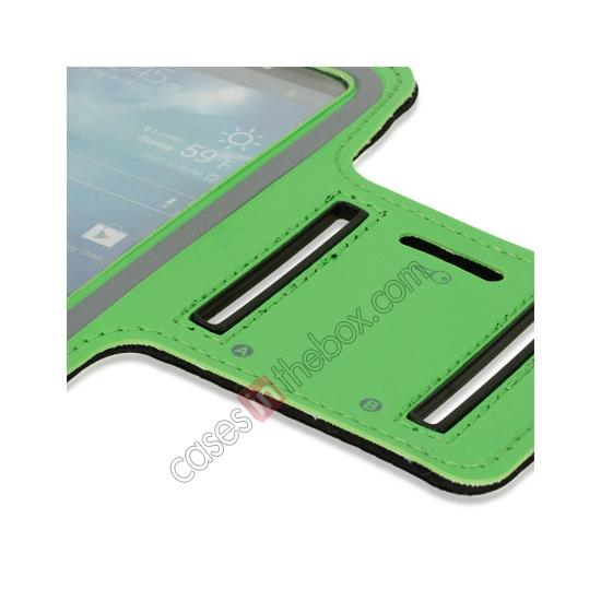 best price Neoprene Armband Strap Case for Samsung Galaxy S4 Active i9295 - Green