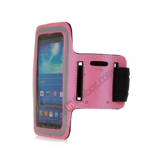 wholesale Neoprene Armband Strap Case for Samsung Galaxy S4 Active i9295 - Hot Pink