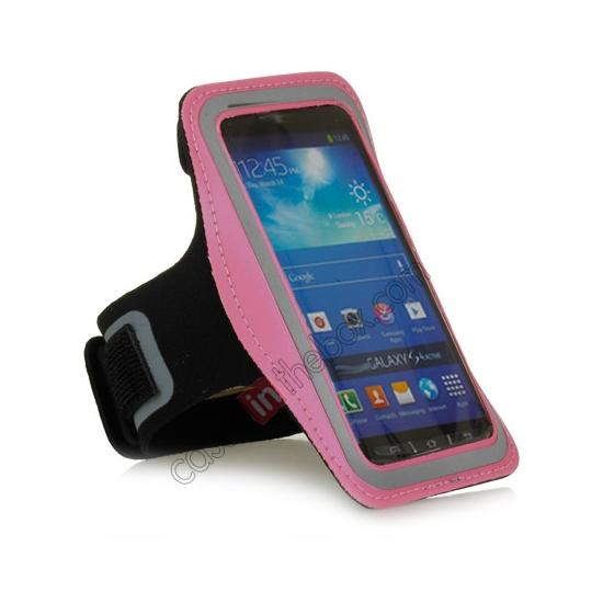 cheap Neoprene Armband Strap Case for Samsung Galaxy S4 Active i9295 - Hot Pink