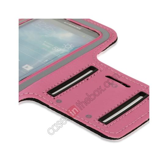 best price Neoprene Armband Strap Case for Samsung Galaxy S4 Active i9295 - Hot Pink