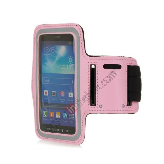 wholesale Neoprene Armband Strap Case for Samsung Galaxy S4 Active i9295 - Pink