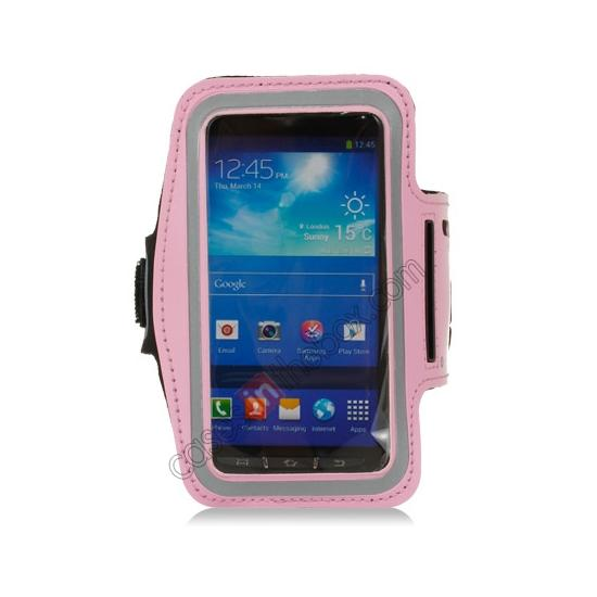 discount Neoprene Armband Strap Case for Samsung Galaxy S4 Active i9295 - Pink