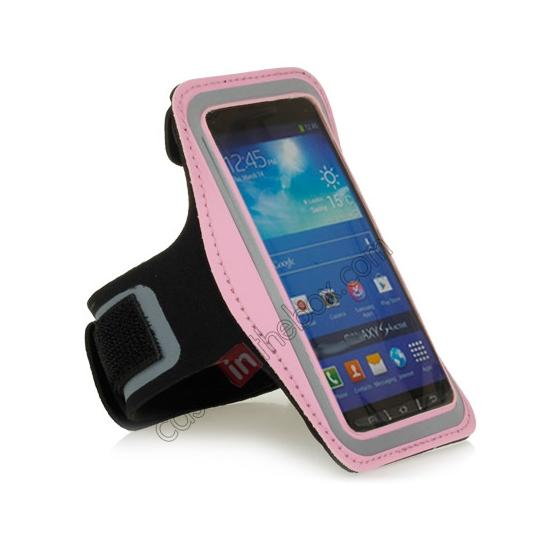cheap Neoprene Armband Strap Case for Samsung Galaxy S4 Active i9295 - Pink