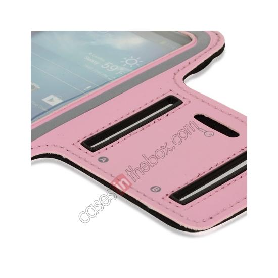 best price Neoprene Armband Strap Case for Samsung Galaxy S4 Active i9295 - Pink