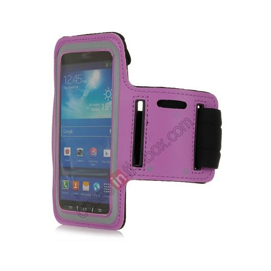 wholesale Neoprene Armband Strap Case for Samsung Galaxy S4 Active i9295 - Purple