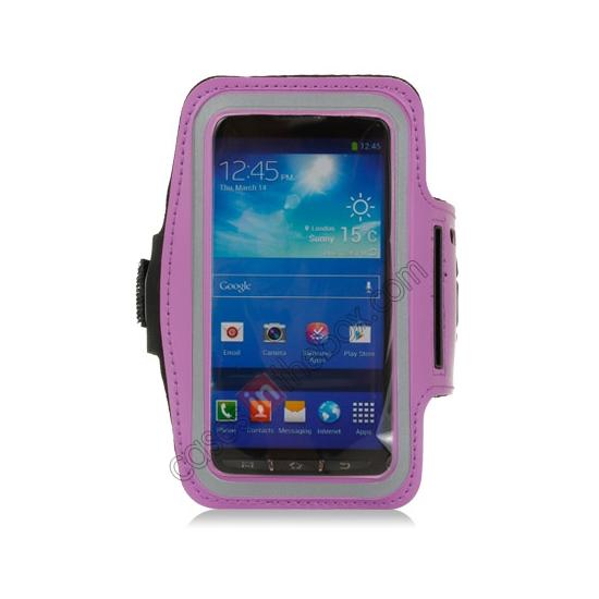 discount Neoprene Armband Strap Case for Samsung Galaxy S4 Active i9295 - Purple