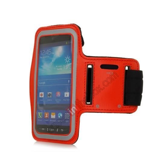 wholesale Neoprene Armband Strap Case for Samsung Galaxy S4 Active i9295 - Red