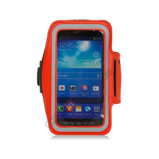 discount Neoprene Armband Strap Case for Samsung Galaxy S4 Active i9295 - Red