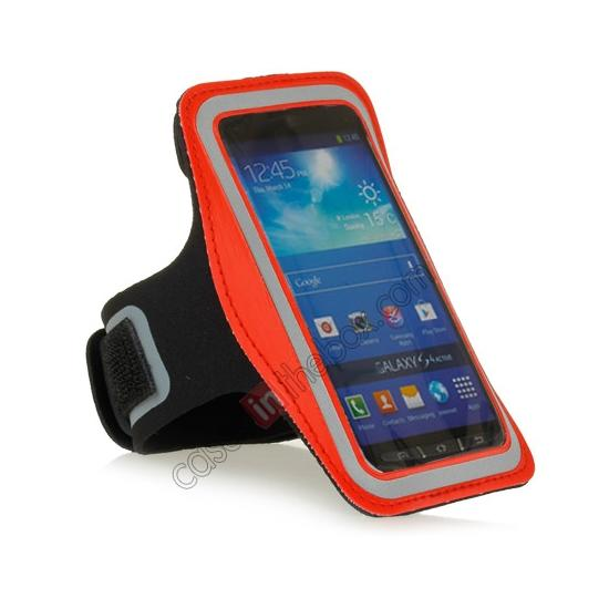 cheap Neoprene Armband Strap Case for Samsung Galaxy S4 Active i9295 - Red