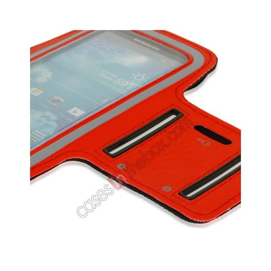 best price Neoprene Armband Strap Case for Samsung Galaxy S4 Active i9295 - Red