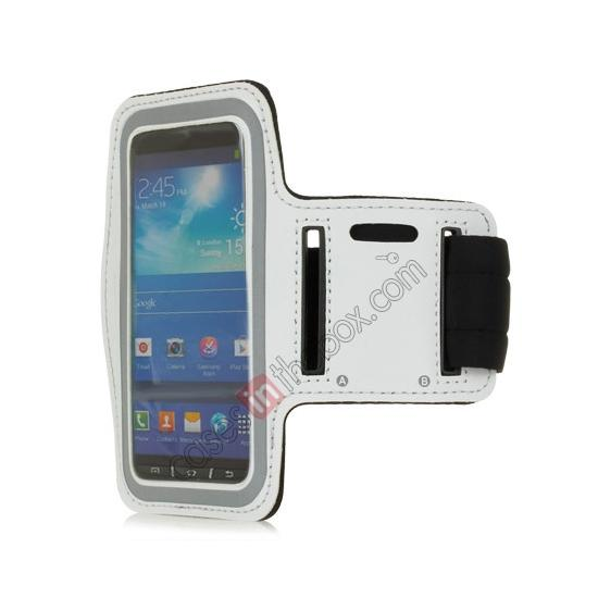 wholesale Neoprene Armband Strap Case for Samsung Galaxy S4 Active i9295 - White