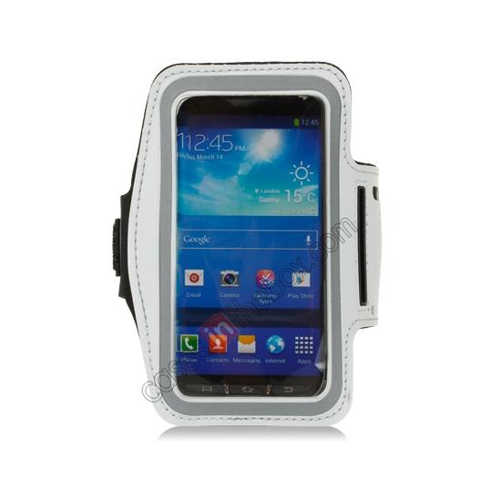 discount Neoprene Armband Strap Case for Samsung Galaxy S4 Active i9295 - White