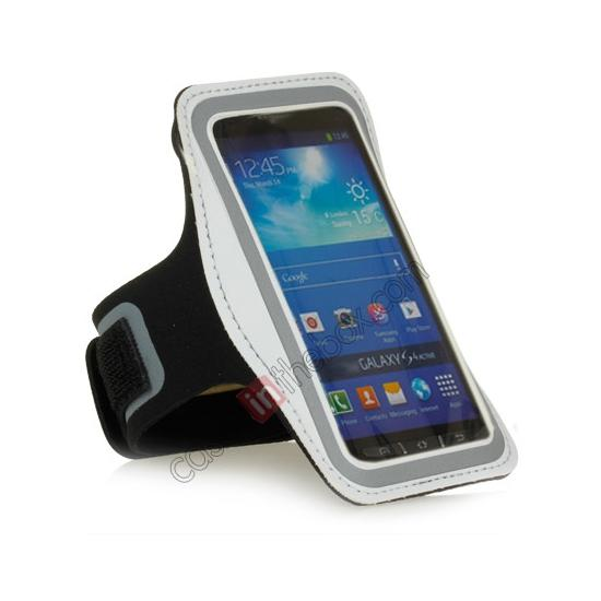 cheap Neoprene Armband Strap Case for Samsung Galaxy S4 Active i9295 - White