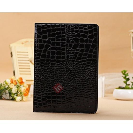 ipad air leather case covers,cheap Luxury Crocodile Skin Pattern Leather Stand Case for iPad Air - Black