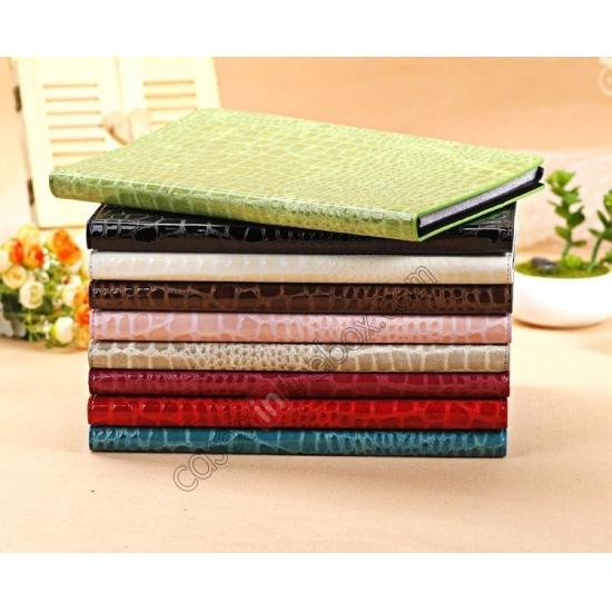 low price Luxury Crocodile Skin Pattern Leather Stand Case for iPad Air - Black