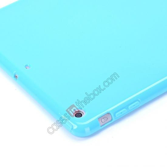 ipad air leather folio case,cheap High Quality Soft TPU Gel Back Cover Case for iPad Air - Blue