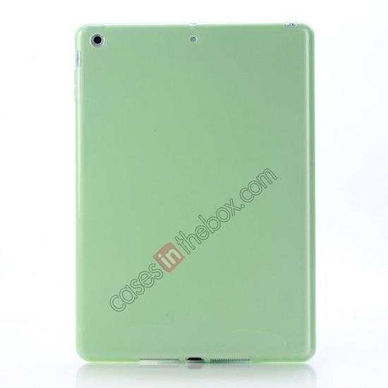 leather ipad air cases,wholesale High Quality Soft TPU Gel Back Cover Case for iPad Air - Green