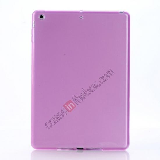 ipad air case leather,wholesale High Quality Soft TPU Gel Back Cover Case for iPad Air - Light Purple
