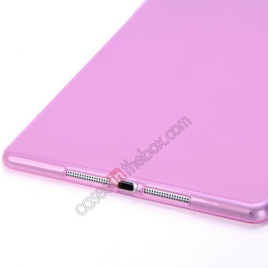 ipad air brown leather case,discount High Quality Soft TPU Gel Back Cover Case for iPad Air - Light Purple