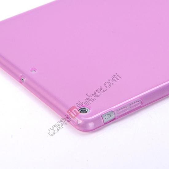 personalized leather ipad air case,cheap High Quality Soft TPU Gel Back Cover Case for iPad Air - Light Purple