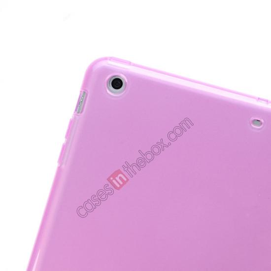 new ipad air case leather cover,best price High Quality Soft TPU Gel Back Cover Case for iPad Air - Light Purple