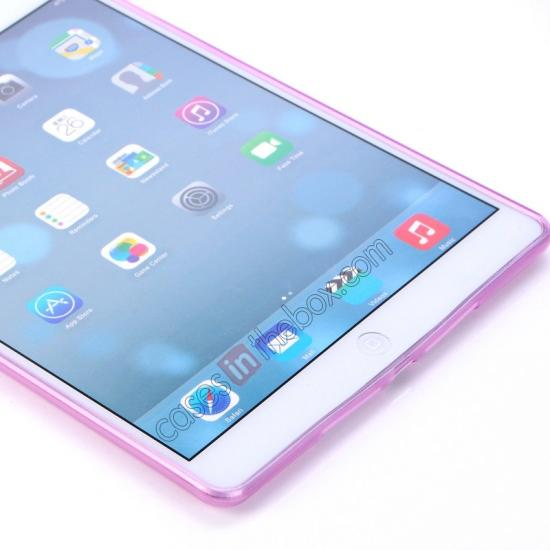 apple ipad air leather smart case,on sale High Quality Soft TPU Gel Back Cover Case for iPad Air - Light Purple