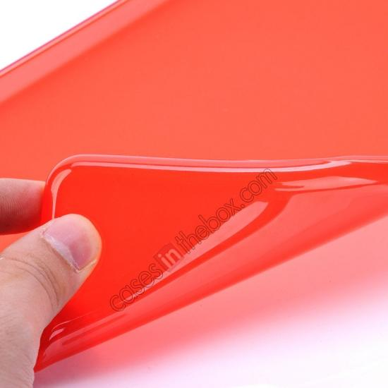 ipadair leather cases,best price High Quality Soft TPU Gel Back Cover Case for iPad Air - Red