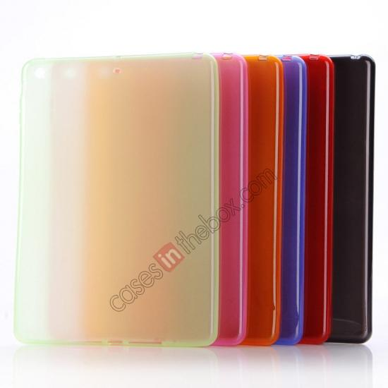 low price High Quality Soft TPU Gel Back Cover Case for iPad Air - Red