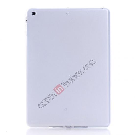 best ipad air leather case,wholesale High Quality Soft TPU Gel Back Cover Case for iPad Air - White
