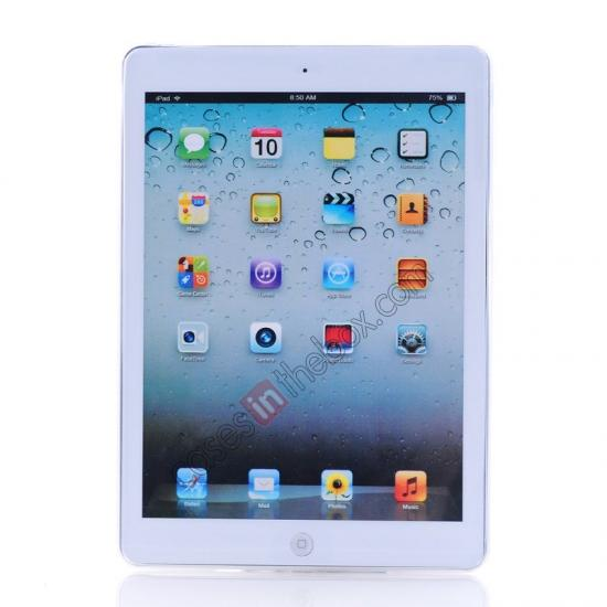 low price High Quality Soft TPU Gel Back Cover Case for iPad Air - White