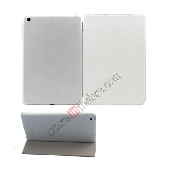 apple ipad air case,wholesale Magnetic Smart Cover Leather + Back Case for iPad Air - White