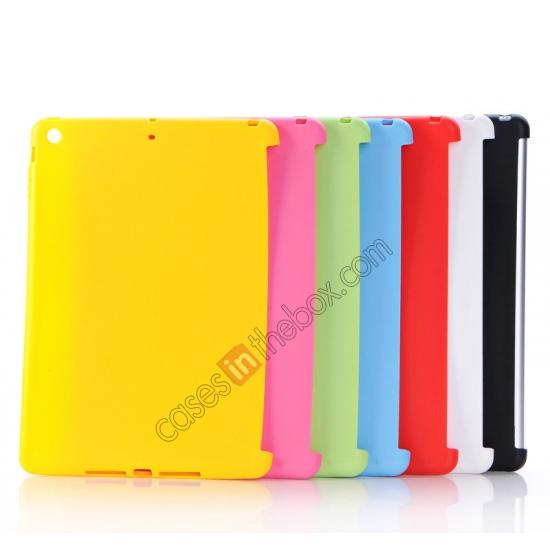 high quanlity New Arrival Soft Solid TPU Gel Skin Protective Back Cover Case For iPad Air - Black