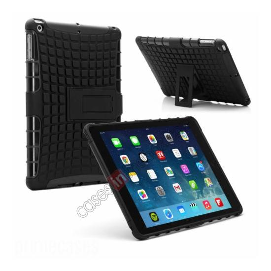 wholesale Shockproof Survivor Military Duty Hybrid Hard Case For iPad Air - Black