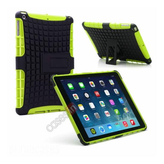 wholesale Shockproof Survivor Military Duty Hybrid Hard Case For iPad Air - Green