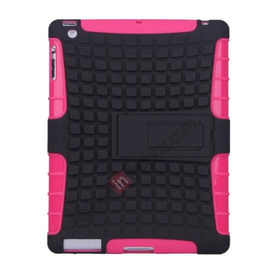 wholesale Shockproof Survivor Military Duty Hybrid Hard Case For iPad Air - Hot pink