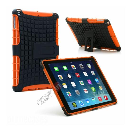 wholesale Shockproof Survivor Military Duty Hybrid Hard Case For iPad Air - Orange