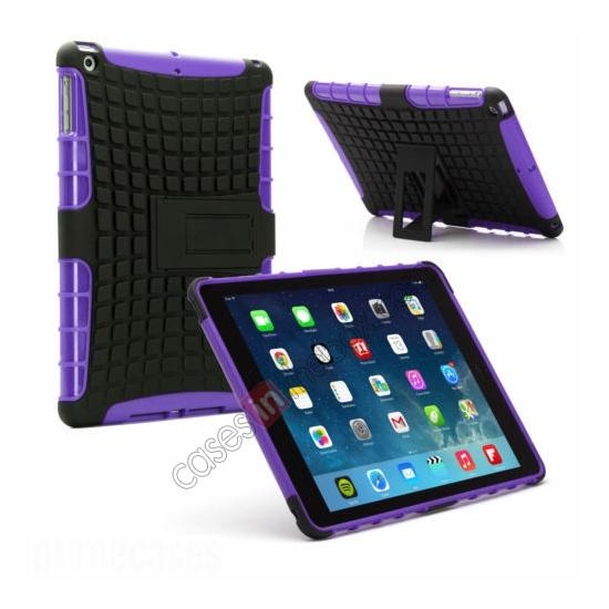 wholesale Shockproof Survivor Military Duty Hybrid Hard Case For iPad Air - Purple