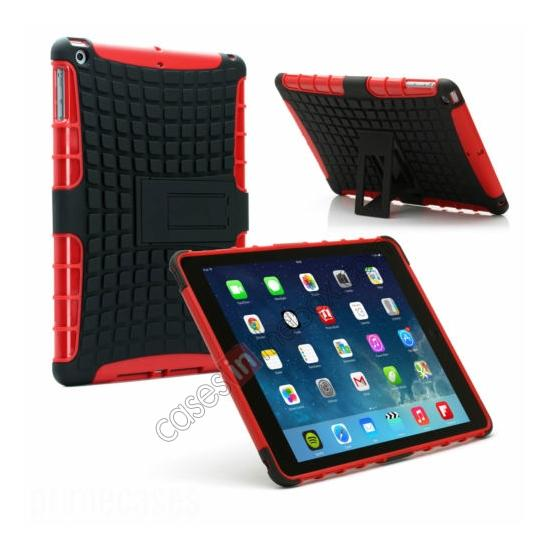 wholesale Shockproof Survivor Military Duty Hybrid Hard Case For iPad Air - Red