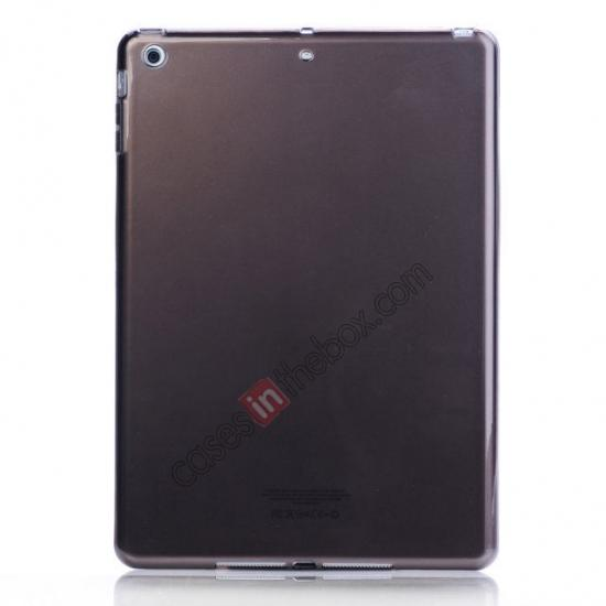 wholesale High Quality Clear Transparent TPU Soft Case Cover for Apple iPad Air 5 - Black