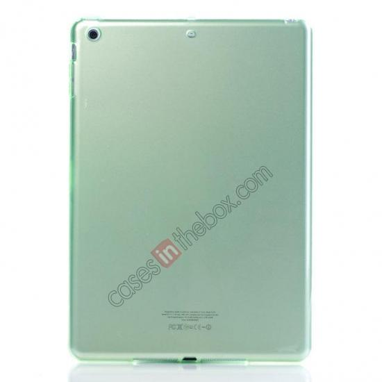 wholesale High Quality Clear Transparent TPU Soft Case Cover for Apple iPad Air 5 - Green