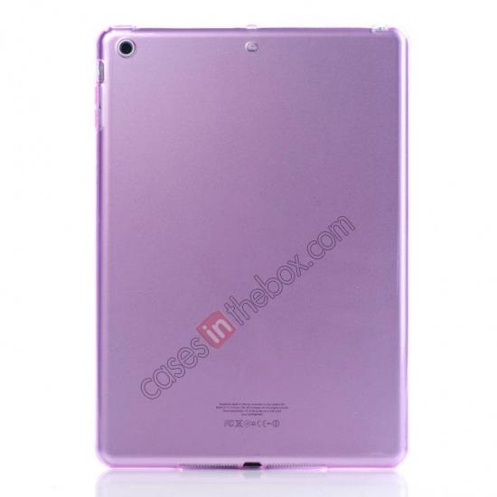 wholesale High Quality Clear Transparent TPU Soft Case Cover for Apple iPad Air 5 - Pink